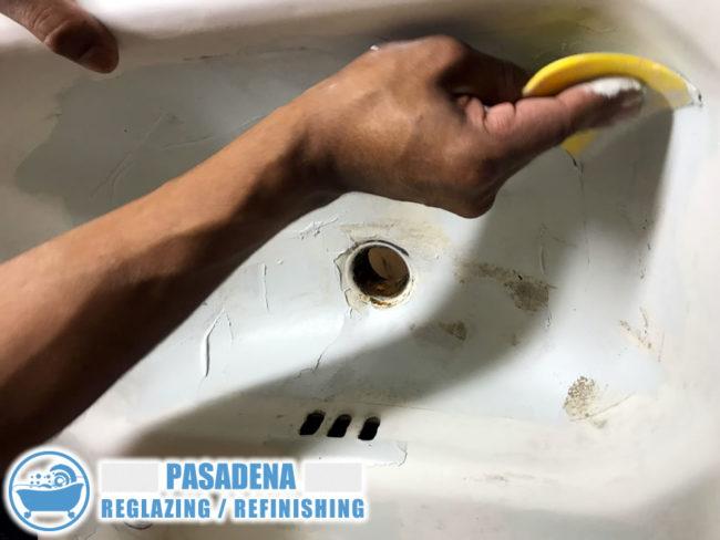 pasadena california bathroom sink refinish